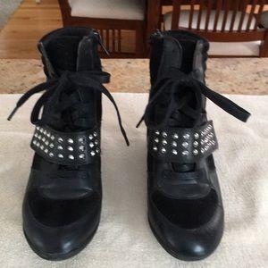 Bakers black platform sneaker type bootie.